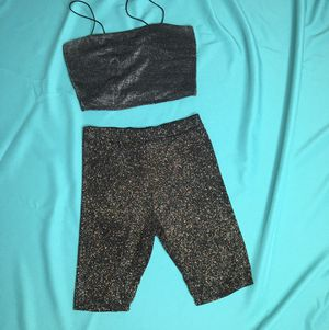 UO glitter bike shorts high waisted stretch M for Sale in Los Angeles, CA