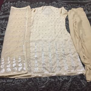 "Pakistani Indian Shalwar Kameez Dress Outfit fancy eid party wedding dress bust size 42"" large for Sale in Silver Spring, MD"