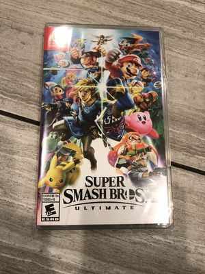 Nintendo Switch - Super Smash Bros. Ultimate video game. Brand New Sealed. for Sale in Fontana, CA