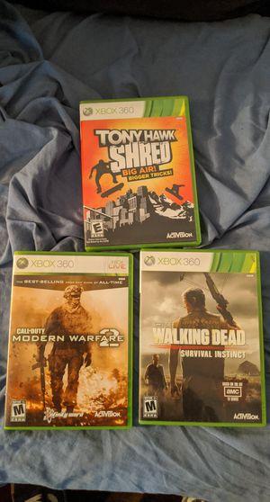 Xbox 360 live Tony hawk shred call of duty modern warfare 2 AMC walking Dead survival instinct for Sale in Glendale, AZ