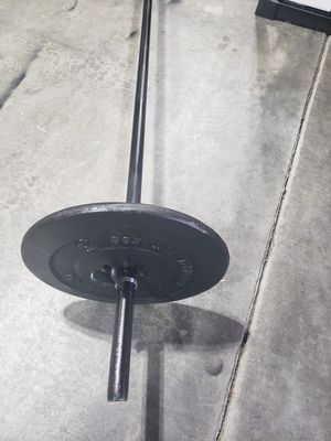 7ft steel barbell with weights for Sale in Lake Stevens, WA