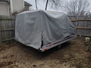 Three snowmobiles and trailer for Sale in South Elgin, IL