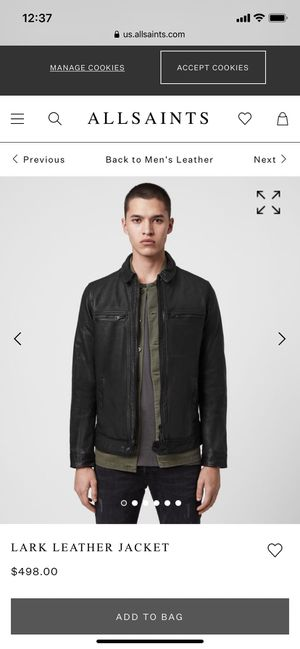 Leather jacket Men's XXL (new with tags) for Sale in San Jose, CA