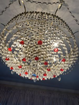 24k plated Crystal chandelier for Sale in Redondo Beach, CA