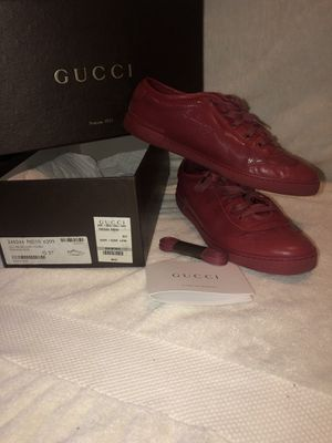 Gucci red women's sneaker size 37 for Sale in Spring Valley, NY