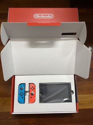 New Nintendo Switch V2 Console with Red and Blue Joy Cons HAC-001 32GB for Sale in Queens, NY
