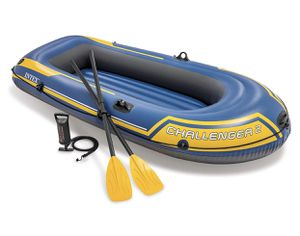 Intex Challenger 2 Inflatable 2 Person Floating Boat Raft Set w/ Oars & Air Pump for Sale in undefined