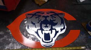 Chicago bears metal wall hanging for Sale in Phoenix, AZ