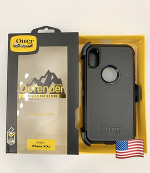 iPhone X & Xs OtterBox Defender Case. Belt Clip/Holster. Black. for Sale in Santa Clarita, CA