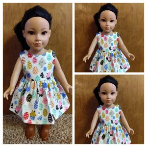 American Girl Or 18 inches Doll Dress Made to Fit 18 inches Dolls perfect For Easter Stacking for Sale in Peoria, IL