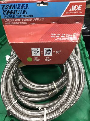 Brand New Braided Dishwasher Connector 14 available $5 each You Must Pickup for Sale in New Ringgold, PA