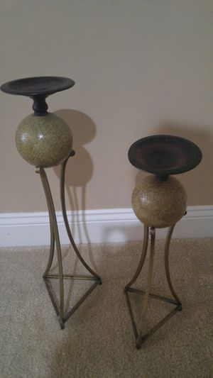 1 pr of candle holders for Sale in Edgewood, MD