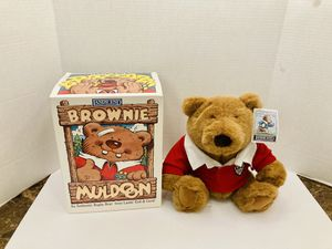 Rare Vintage Limited Edition New With Tags & Original Box Lands End Plush Authentic Rugby Bear 1995 Brownie Muldoon Teddy Bear Plush Toy Collectible for Sale in Spring Hill, FL