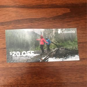 Columbia Store Coupon for Sale in Carson, CA