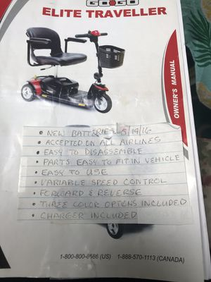 2015 go go elite electric scooter for Sale in Young, AZ