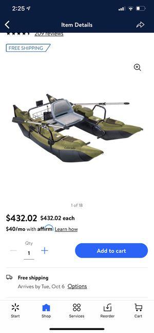 Classic Accessories Colorado Pontoon Boat fishing boat kayak for Sale in San Antonio, TX