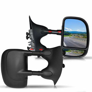 DOT Approved Black Manual Towing Mirrors Passenger and Driver Side Mirrors For Pickup Truck 1999 2000 2001 2002 2003 2004 2005 2006 2007 for Sale in Ontario, CA