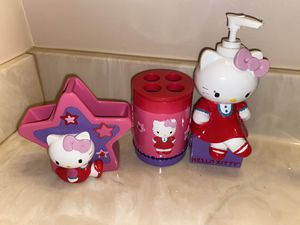 Hello Kitty Bathroom Counter Set for Sale in Westminster, MD