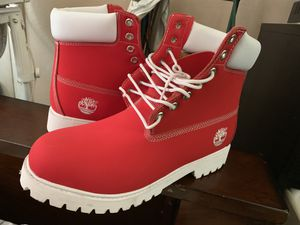 Red timberland boots for Sale in St. Petersburg, FL