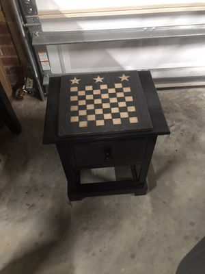 Checker board top game side table. for Sale in Harrisburg, NC
