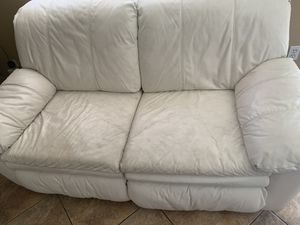White Bed Couch and reclining couch for Sale in Phoenix, AZ
