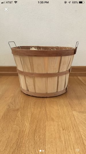 Wooden basket for Sale in Appleton, WI