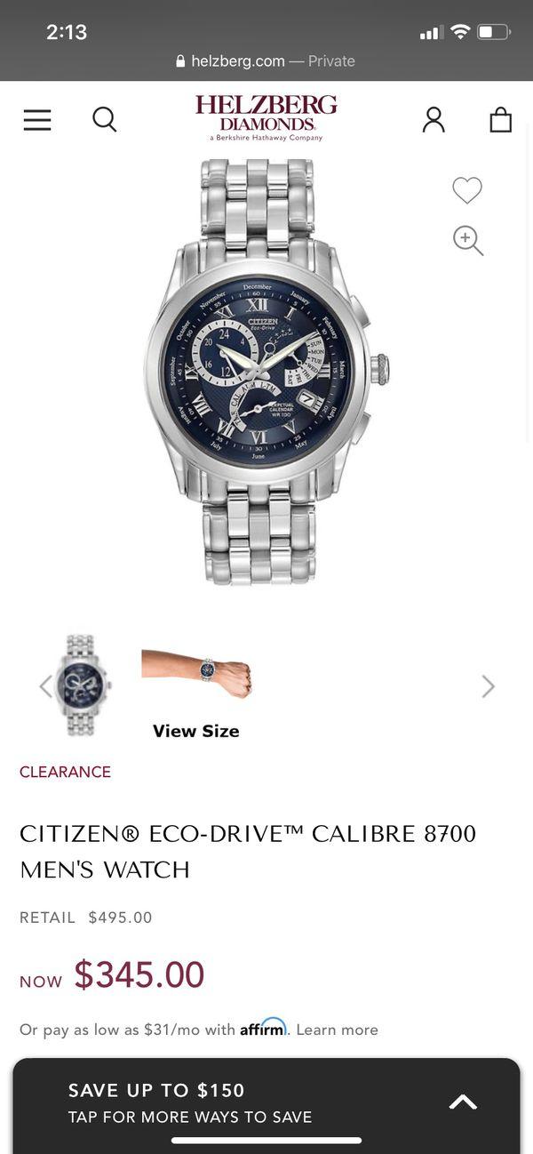 Citizen Eco-Drive WR 100 Perpendicular Calendar Watch