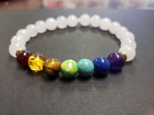 **NATURAL STONE -7 chakra healing White Jade Bracelet (Protection,Block & remove negative energy, healing, Decision & $$ Making, Calm emotions) for Sale in Rancho Cucamonga, CA