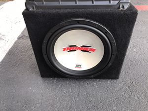 12 inch thunder MTX subwoofer. And a 2000 kenwood Amp. for Sale in Santa Ana, CA