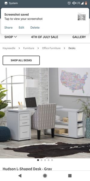 White corner desk for Sale in La Jolla, CA