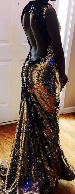 Black/Gold Sequin Formal Dress for Sale in Atlanta, GA