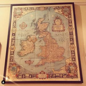 1937 British Isles Map for Sale in Los Angeles, CA