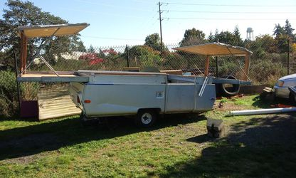 Apache pop up trailer. Parts . I'm keeping frame. for Sale in Tacoma,  WA