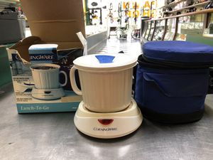 CorningWare Lunch to Go Heated mug and carry bag for Sale in Margate, FL