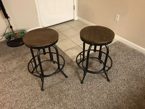 Very Cool Bar Stools, solid Wood Seat, swivel height adjustment. Perfect for Breakfast Bar style in newer apartments and homes for Sale in Fresno, CA