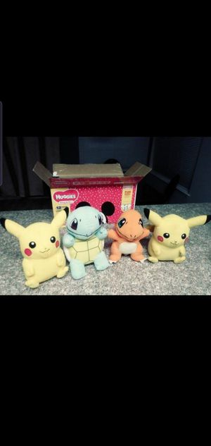   PIKACHU ° SQUIRTLE ° CHARMANDER ° POKEMONS COLLECTIONS PLUSH TOY   STUFFED ANIMALS. FIRM PRICE! All for $30   THANK YOU! for Sale in Las Vegas, NV