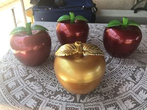 Apple Storage Containers (set of 4) for Sale in Montclair, CA