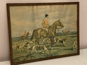 Framed vintage print for Sale in Elmsford, NY