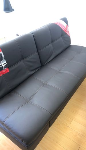 Relax a lounger leather futon (brown) new for Sale in Sacramento, CA