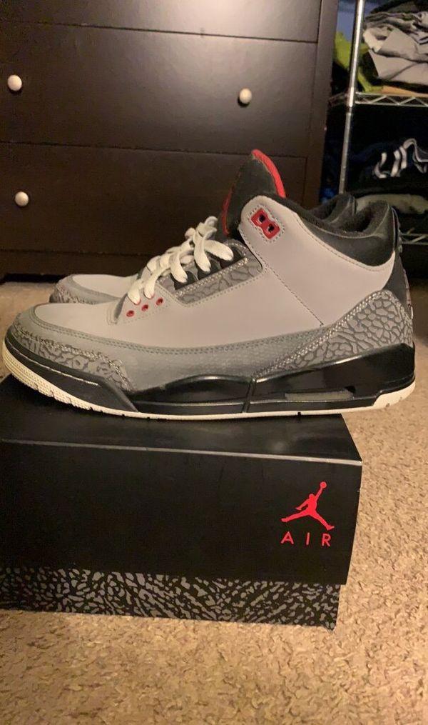 """Air Jordan 3 Retro """"Stealth"""" Sz. 10"""