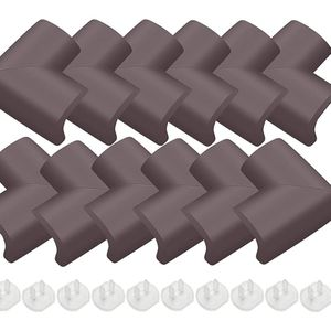 Baby Proofing Corner Protector (12 Pack) NBR Material Thickening Brown Corner Guards for Furniture Desk Child Safety Corner Bumper Table Corner Covers for Sale in Phoenix, AZ