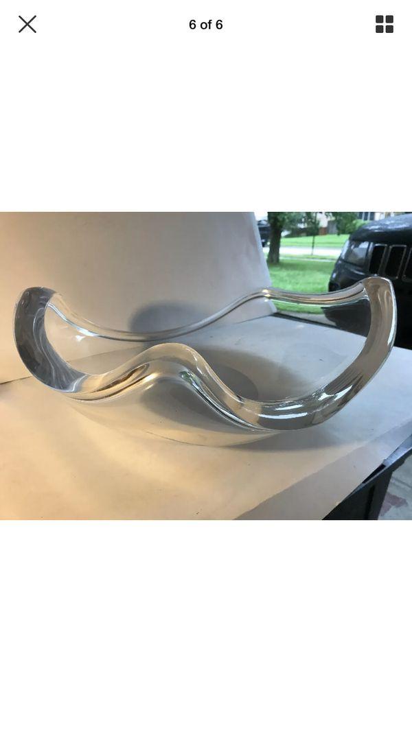 "Vintage Mid Century Modern 19"" Ritts ASTROLITE Sculptural LUCITE Acrylic BOWL"
