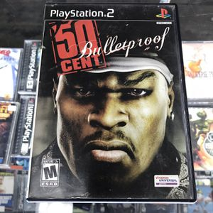 50 Cent Bulletproof Ps2 $35 Gamehogs 11am-7pm for Sale in Downey, CA