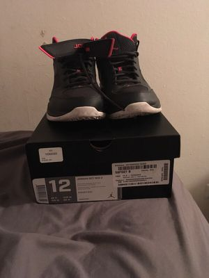 Jordan bct mid2 anthracite/infrared-black size 12 for Sale in Denver, CO