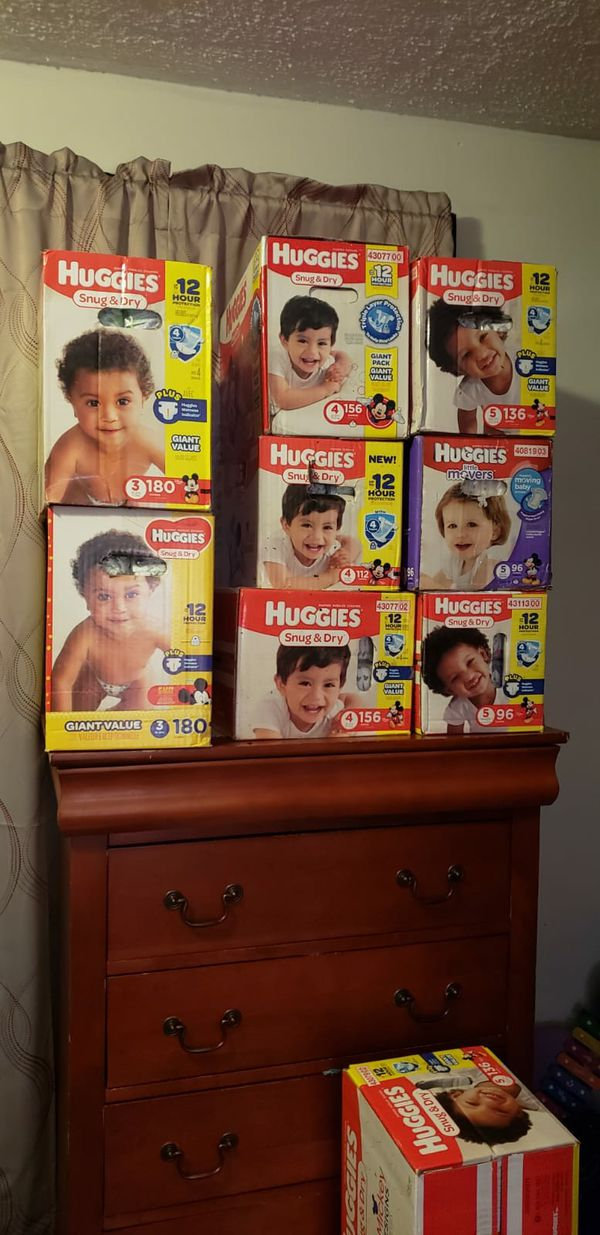 Huggies Diapers For Sale (Only Size 2 & 5 left)