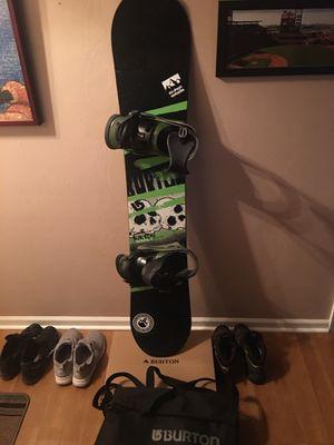 Burton Snowboard with bindings and bag for Sale in Virginia Beach, VA
