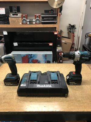 """Makita XPH07Z 18V LXT Lithium-Ion Brushless Cordless 1/2"""" Hammer Driver-Drill w/ Double Set Charger .... for Sale in Baltimore, MD"""