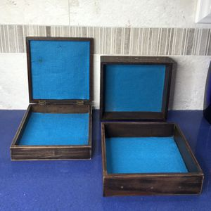 Three Decorative Distressed Boxes... Change Color Easily With New Felt... Check Out My Other Offers Too for Sale in West Palm Beach, FL