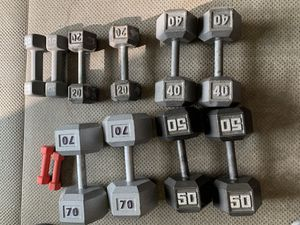 Dumbbells $1.60 per pound or all for $599 for Sale in Boonsboro, MD