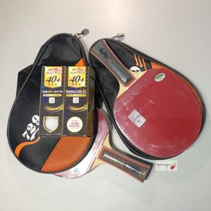 2x729 Professional Wood Table Tennis Racket With Cover And Balls for Sale in Granite Bay, CA